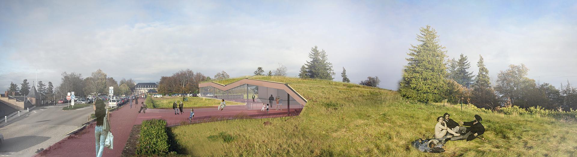 K&+ schéma pavillon Mont Saint Odile